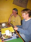 Elizabeth reads her work to Rick and other members of her writing group, AASP.