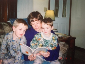 e reading to boys